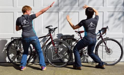Tour de Sustainability team t-shirt pose